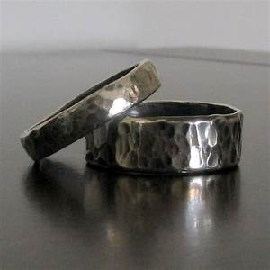 mens wedding band matching women39s wedding band With mens hammered wedding ring