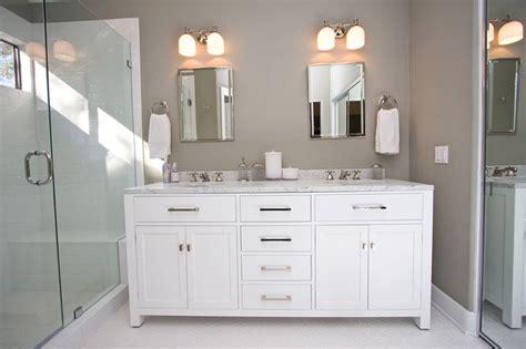 Contemporary Gray & White Bathroom Remodel-contemporary