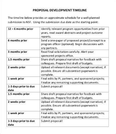 timeline template for grant proposal proposal timeline template 9 free word pdf documents
