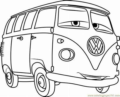 Coloring Cars Pages Fillmore Cartoon Bus Vw