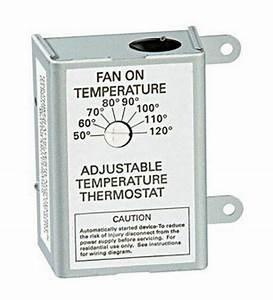 Air Vent  58033 Single Speed Adj Thermostat No 58033  Air
