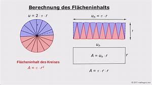 Flächeninhalt Und Umfang Berechnen : fl cheninhalt eines kreises aus radius youtube ~ Themetempest.com Abrechnung
