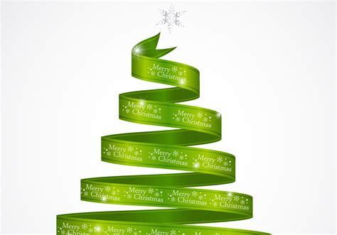 green ribbon christmas tree psd  photoshop brushes