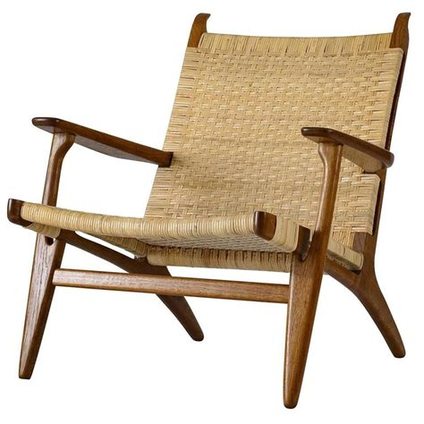 hans wegner ch 27 lounge chair for sale at 1stdibs