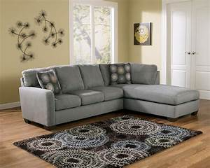 Signature design by ashley zella charcoal contemporary for Ashley contemporary sectional sofa with left arm facing chaise