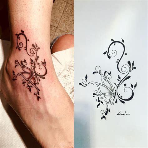 tatouage papillon arabesque galerie tatouage