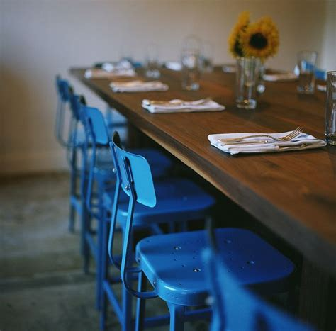 farm table with metal chairs blue metal chairs with a farm table bibilicious blue