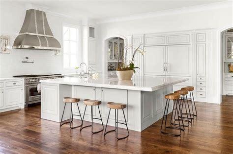 oversized kitchen island  smart  sleek stools