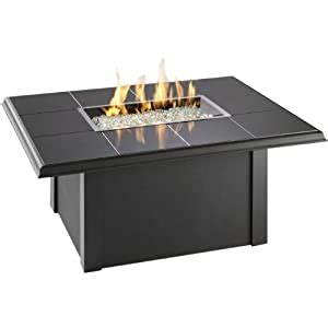 Fuel to the burner is supplied by natural gas or lp propane gas to a tabletop burner. Amazon.com: Outdoor Greatroom Napa Valley Gas Fire Pit Coffee Table with Black Metal Base: Patio ...