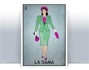 La Dama Loteria Card