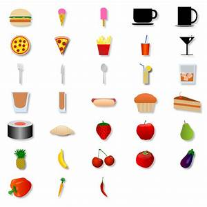 Net Diagram Food Shapes