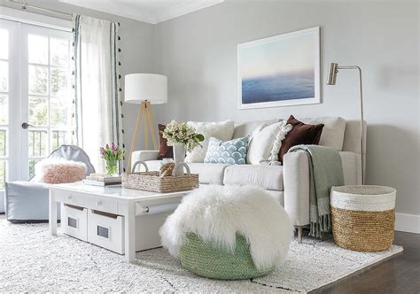 monochromatic living rooms  white full  personality