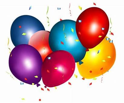 Balloons Confetti Colorful Clipart Balloon Clipar Birthday