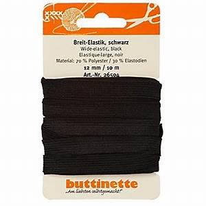 Gummiband Länge Berechnen : buttinette gummiband breit elastik schwarz breite 12 mm l nge 10 m online kaufen ~ Themetempest.com Abrechnung