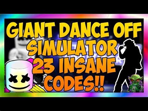 roblox giant dance  simulator  code
