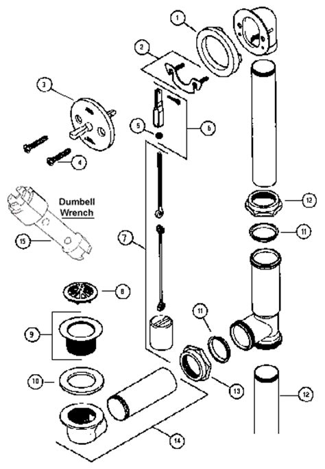 Tub Drain Assembly Diagram by Replacement Parts For Brass Bathtub Drains