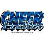 Cheerleader Line Cheerleading Vector Clipart Cheer Clip