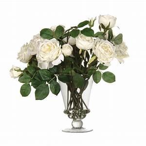 Rose In Glas : fake roses artificial flower arrangements uk candle and blue ~ Frokenaadalensverden.com Haus und Dekorationen