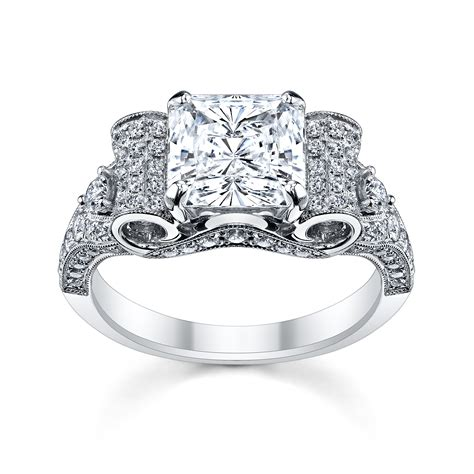 4 perfect heart bow diamond engagement rings for the