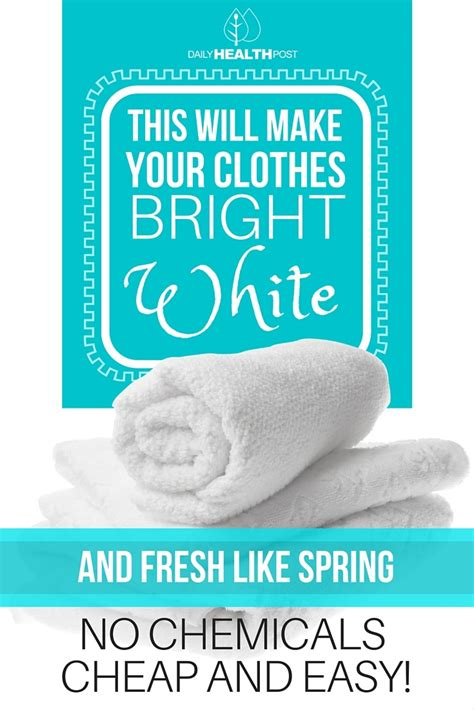 Make Your Laundry Bright Again by 10 Ways To Use Vinegar To Clean Your Clothes