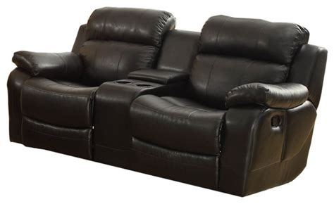 Reclining Loveseat With Middle Console by Homelegance Marille Glider Reclining Loveseat With