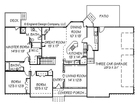House Plans Ranch Style Home Open Ranch Style House Plans
