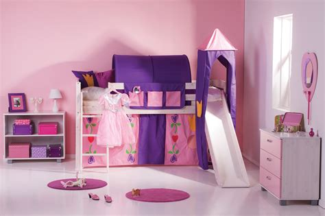 Girls' Trendy Cabin Bed With Slide And Tent- A Fun