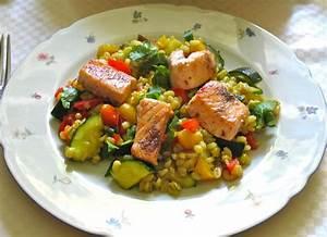 Lachs Mit Gemüse : curry graupenpfanne mit gem se und lachs scheckenlaks ~ Orissabook.com Haus und Dekorationen