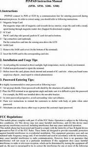 Pax Technology S300 Pin Pad User Manual