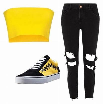 Polyvore Yellow Outfits Boujee Conti Casual
