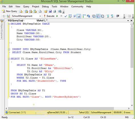 sql server show tables show sql server data table in a xml using sql query