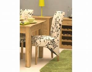 Mobel Oak Upholstered Dining Chair Pack Of Two