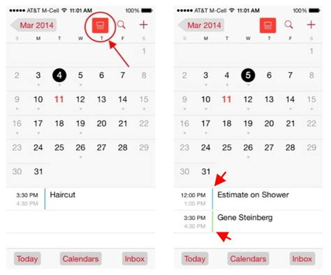 calendar on iphone ios 7 1 calendar s new show events view for iphone