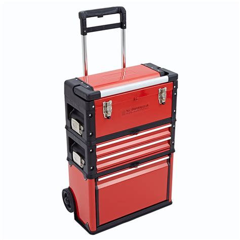 tool cabinets on wheels 3 in 1 trolley tool box set 4 drawers boxes storage