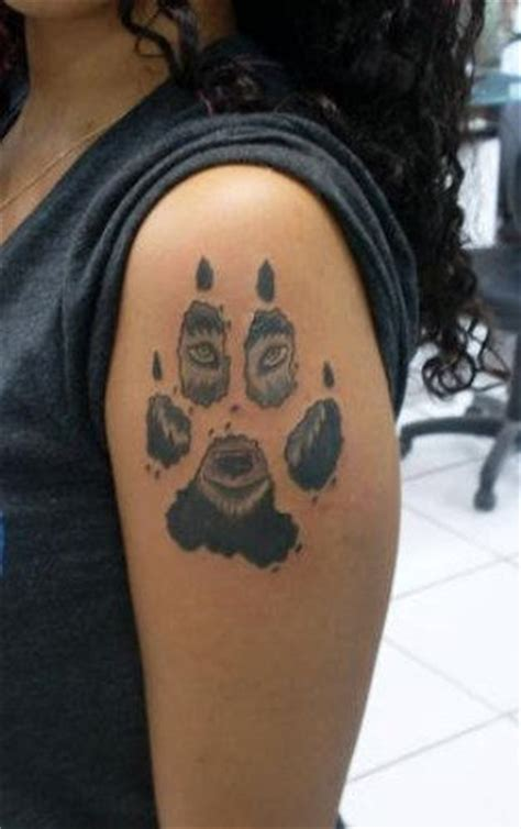 paw print tattoo designs pictures images