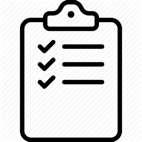 Clipboard Checklist Icon Black