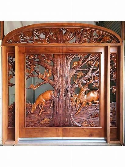 Wood Door Doors Carved Hand Custom Entry