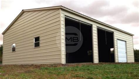 agri sheds 20x31 vertical roof side entry prefab garage with metal