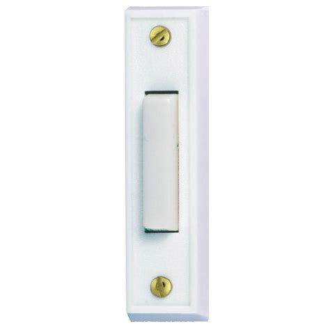 push button light switch home depot hton bay wired lighted door bell push button white hb