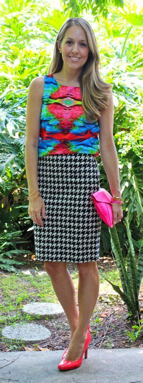 Houndstooth Skirt Outfit Ideas | www.pixshark.com - Images ...