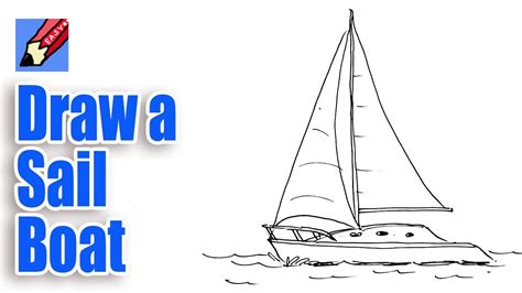 How To Draw A Keelboat by How To Draw A Sailboat Real Easy Youtube