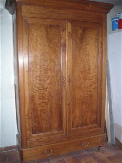 Armoire Louis Philippe Noyer Ancienne Tbe, Ameublement