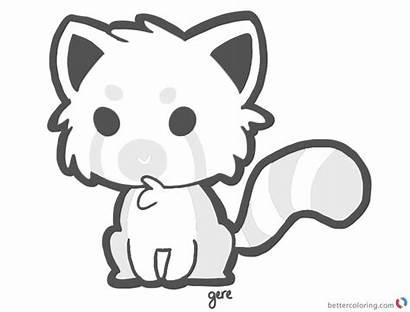 Panda Coloring Pages Cartoon Printable Adults