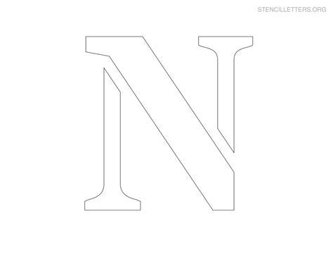 free letter stencils stencil letters n printable free n stencils stencil 22179