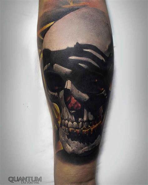 realistic skull tattoo  forearm  tattoo ideas gallery