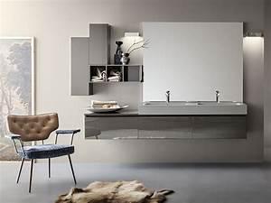 meuble sous vasque double laquee mural joy new 06 07 With meuble 06