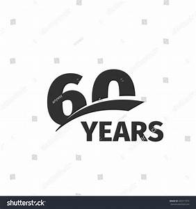 Isolated abstract black 60th anniversary logo stock vector for 60 wedding anniversary symbol