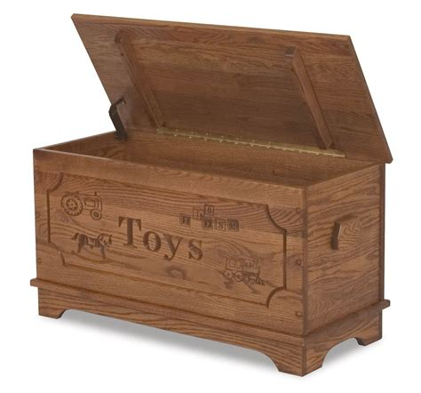 Amish Toy Box Storage Chest Blanket Box Trunk Wooden Wood