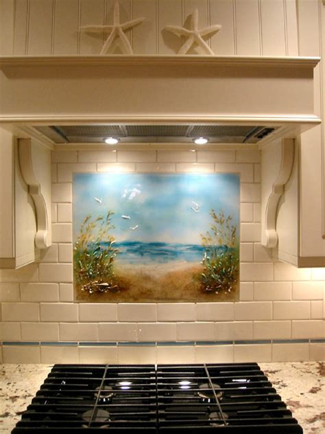 "Beach Themed Kitchen Backsplash ""path To The Beach"