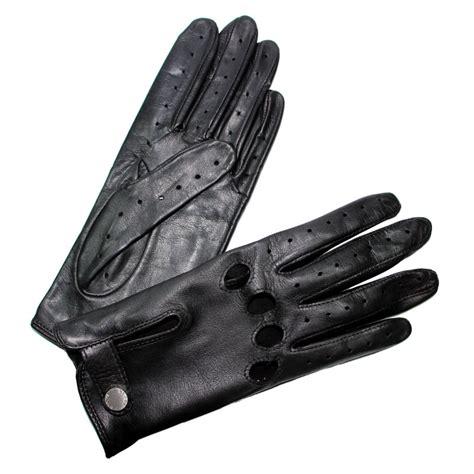 gant de cuisine anti chaleur gants de conduite femme cuir noir glove fermés